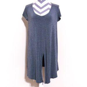 Susana Monaco Slit Front Knit Tunic Dress